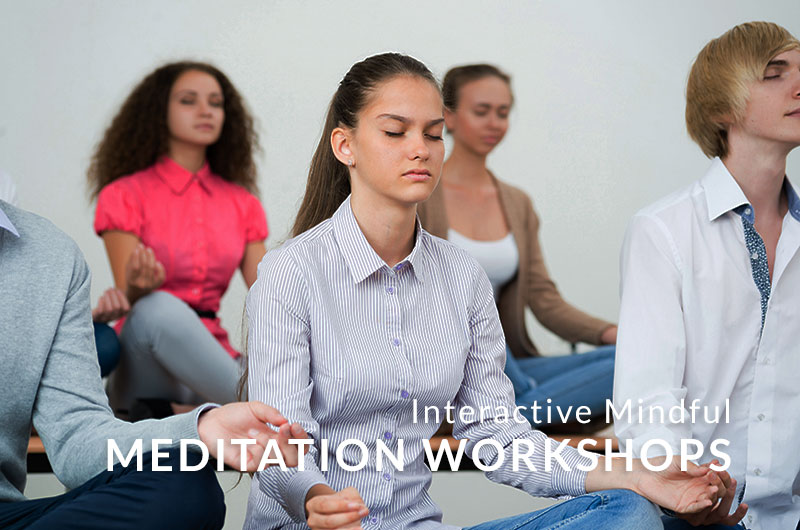 INTERACTIVE MINDFUL MEDITATION WORKSHOPS